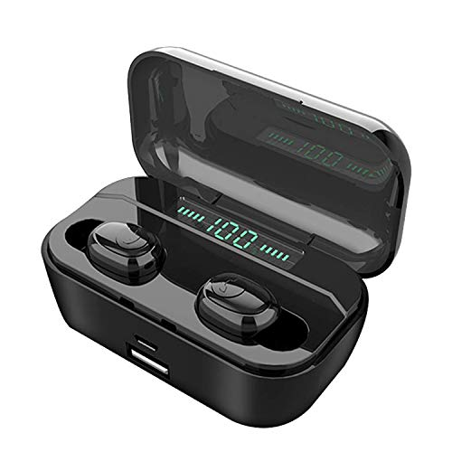 NOYCE NE-02 Wireless Earphones – TWS Bluetooth 5.0 Earbuds with Auto-Connect – IPX7 Rated, HiFi Stereo Surround Sound, Noise Cancelling – Long Battery Life, 3000mAh Charging Case Doubles as Power Bank