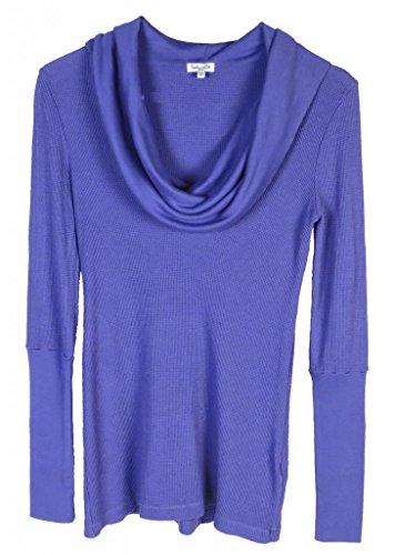 Splendid Long Sleeve Cowl Neck Thermal Top Purple Size Medium