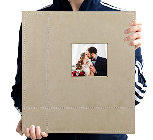 Zoview Art Magnetic Self-Stick Page Photo Album, Family Album, Suede Cover, Hand Made DIY Albums Holds 3X5, 4X6, 5X7…