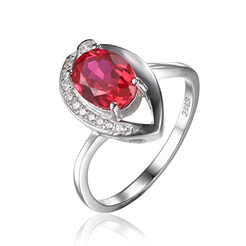 JewelryPalace Womens Created Solitaire Sterling product image