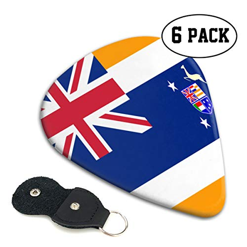 RZM YLY Union of South Africa Flag Guitar Picks 6 Pack- Universal Plastic Celluloid Guitar Picks Holder Unique Guitar Gift for Bass, Electric & Acoustic Guitars (Bass Guitar Amps For Sale South Africa)