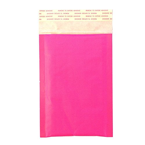 40 4x8 EXCLUSIVE DESIGN! HOT PINK Kraft Bubble Mailers Standard Mailer SIZE #000