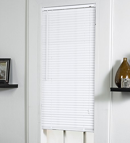 Lewis Hyman 1802365 Vinyl Mini Blind, 23-Inch Wide by 64-Inch Long by 1-Inch Deep White