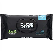 DUDE Wipes, Flushable Moist Dispenser Pack, Fragrance Free and Naturally Soothing (48ct)