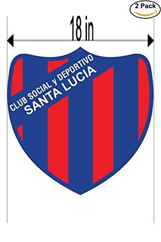 Club Social y Deportivo Santa Lucia de Acheral Argentina Soccer Football Club FC 2 Stickers Car Bumper Window Sticker Decal Huge 18 inches