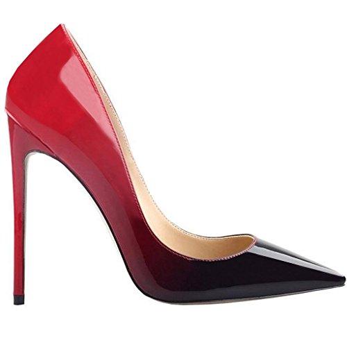 Pumps Rot Heels High Sexy Damen Stiletto Büro Kleid Schwarz Jushee Klassische Schwarz xwzAvqC1
