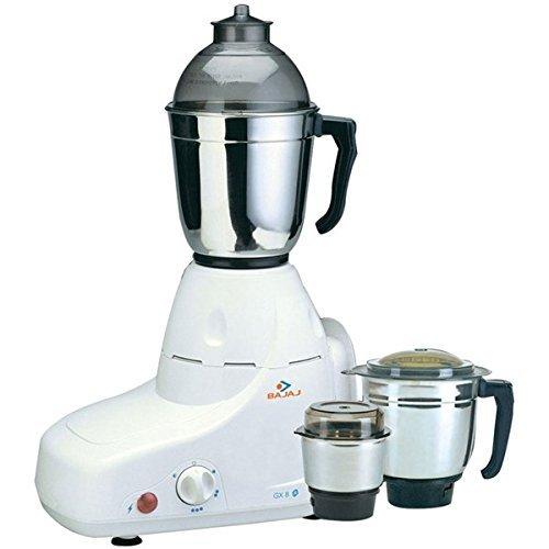 Bajaj GX8 Mixer Grinder, 750W, 3 Jars (White)