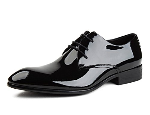Zapatos Clásicos de Piel para Hombre Zapatos de Hombre Estilo de Negocios Ropa Formal Encaje de Cuero Brillante Zapatos con Boda Novia ( Color : Negro , Tamaño : EU40/UK6.5 ) Negro
