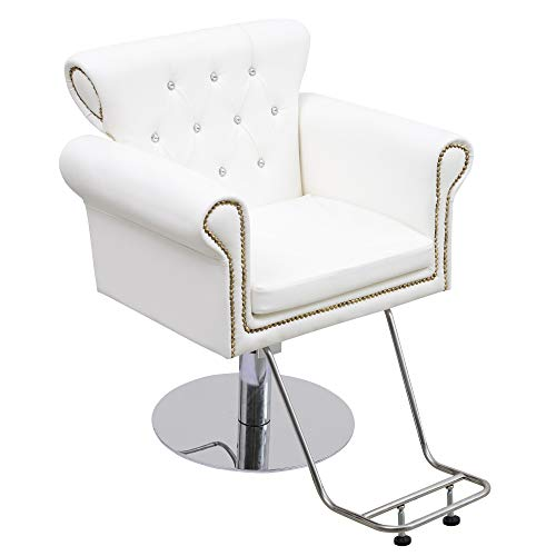 BarberPub Hair Spa Styling Barber Chair Salon Beauty Equipment 8899 (White)