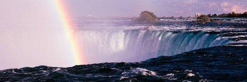Rainbow Over Waterfall (Walls 360 Peel & Stick Wall Murals: Rainbow Over Niagara Falls (84 in x 28 in))
