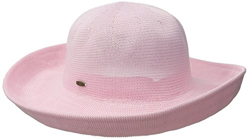 scala-womens-knitted-poly-straw-big-brim-hat-pink-one-size