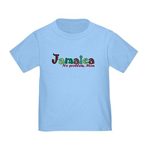 (CafePress Jamaica No Problem Toddler T-Shirt Cute Toddler T-Shirt, 100% Cotton Baby Blue)