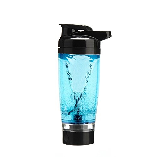 Vortex Mixer Blender Protein Storage Container Shaker Bottle Evolution (Black)