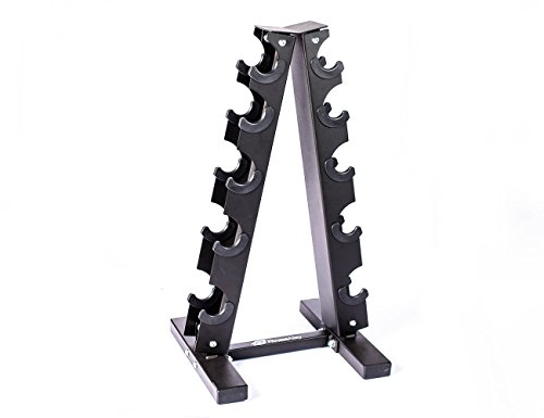 Fitness Alley Steel Dumbbell Rack - 5 Tier Weight Holder & 5 Tier Weight Rack Dumbbell Stand - Dumbbell Holder - Dumbbell Rack Stand - Weight Racks for Dumbbells of All Sizes by Fitness Alley (Image #5)