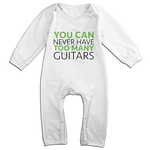 Price comparison product image Niguvlpo Too Many GuitarsBaby Long Sleeve Jumpsuit Humorous