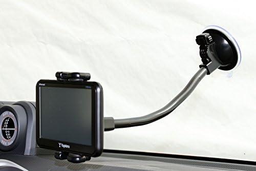 【エレワークス】 汎用 6インチ~10インチ テレビ(TV)・モニター・ディスプレイ用 フレキシブルアーム24cmタイプ 吸盤 車載用取付スタンド