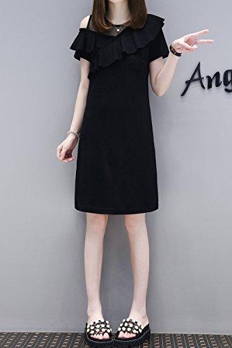 MiGMV?2018 Robes t Robe Sexy, paules, Tube Droit, Femme Robe Une Jupe,XL,Black