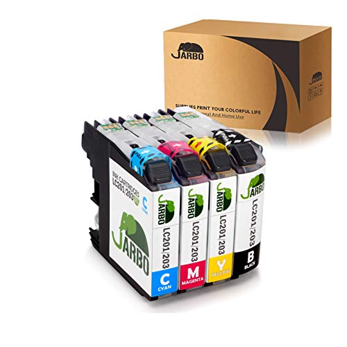 JARBO 1 Set Compatible Ink Cartridges Replacement for Brother LC203 High Yield, Used with Brother MFC J480DW J680DW J880DW J460DW J485DW J885DW J5520DW J4320DW J4420DW J4620DW J5620 J5720DW Printer by JARBO