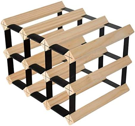 Mensolas Wine Racks Wine rack for 9 bottles made in pine wood. Wine storage rack fits bottle sizes up to 750 ml.