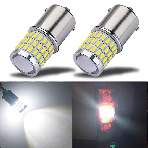 iBrightstar Newest 9-30V Super Bright Low Power 1156 1141 1003 BA15S LED Bulbs with Projector replacement for Back Up Reverse Lights,Brake Lights,Tail Lights,Rv lights,Xenon White