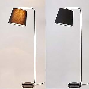 deed floor lamp led creative vertical floor lamp black fabric living room bedroom. Black Bedroom Furniture Sets. Home Design Ideas