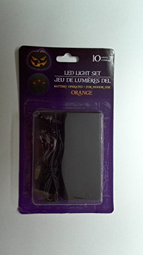 Halloween LED Light Set Orange]()