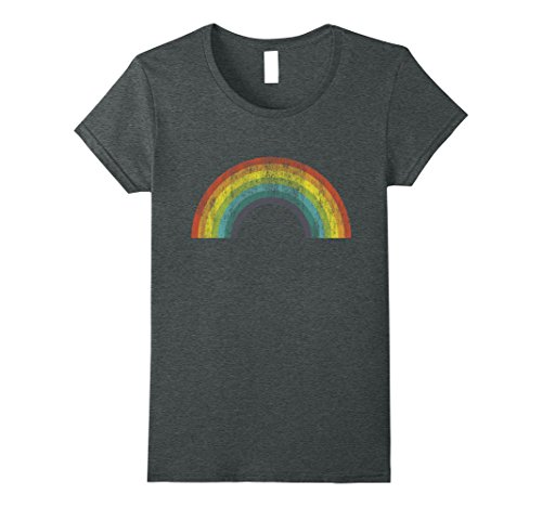 Womens I Love 70s Tshirt Vintage Rainbow Made In 70s 80s Medium Dark (Women In The 70s)