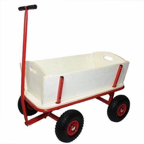 Ein Bollerwagen ist für jegliche Art von Ausflügen zu Fuß gut geeignet.
