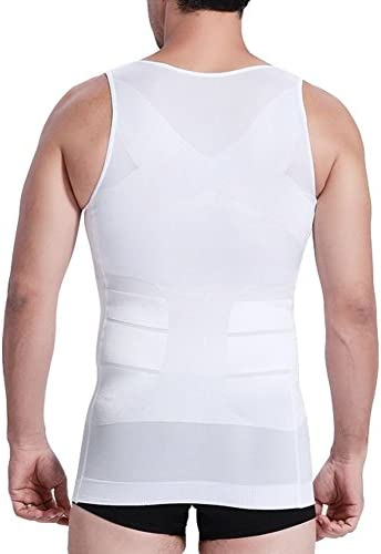 Camiseta de tirantes elástica, para esculpir el cuerpo, modeladora, adelgazante, de color blanco: Amazon.es: Juguetes y juegos