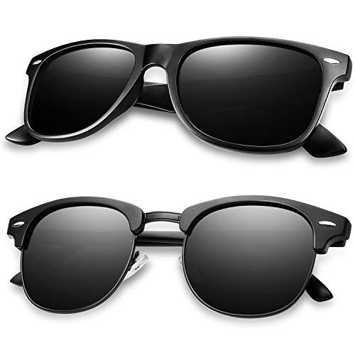 Polarized Sunglasses for Men and Women - KEAKUO Retro Polarized Mens Classic sunglasses UV400 protection Brand Designer Driving mens sunglasses