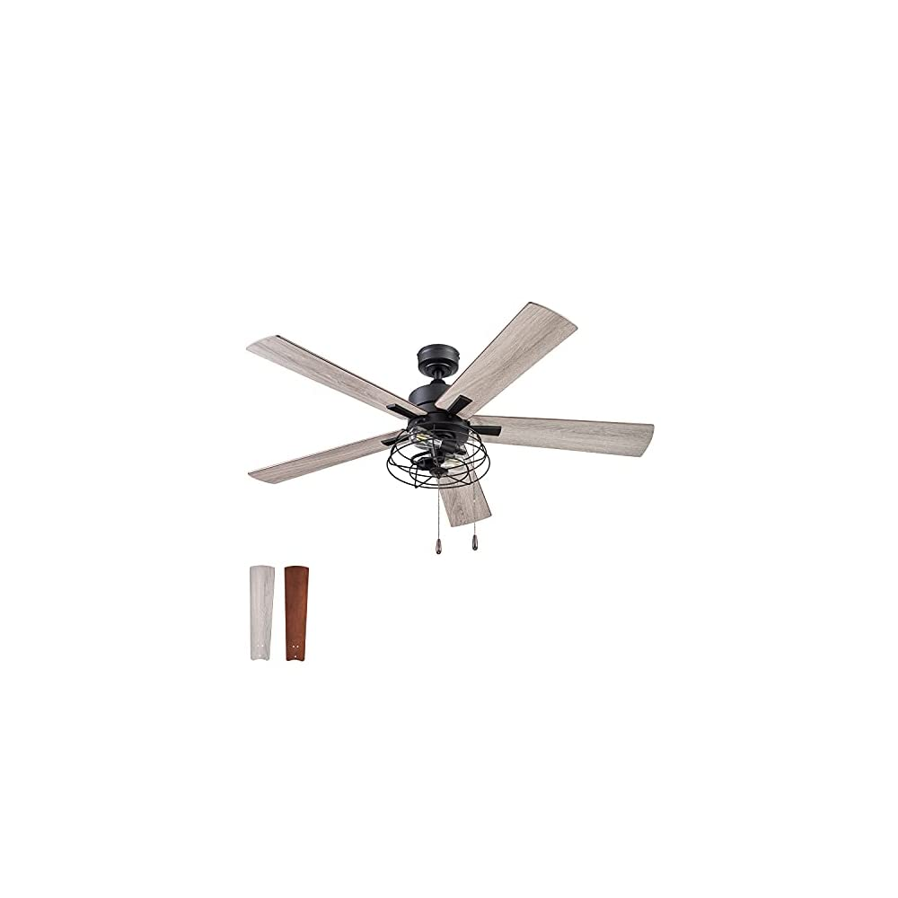 Prominence Home 51457-01 Marshall Ceiling Fan, 52, Matte Black