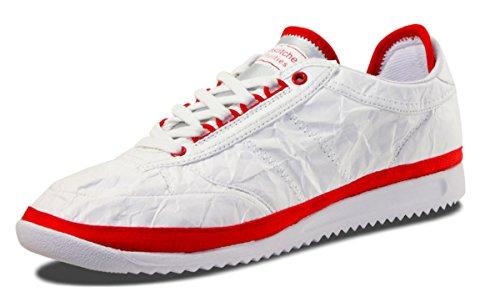 Unstched Utilities Mujeres Fast Lane Tyvek Diseñador Fashion Sneaker Blanco / Rojo