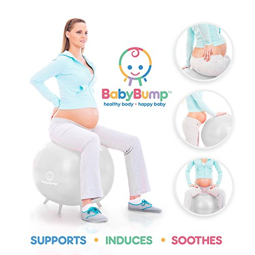 Stability Ball For Labor: Baby Bump Birth Ball With Base Legs