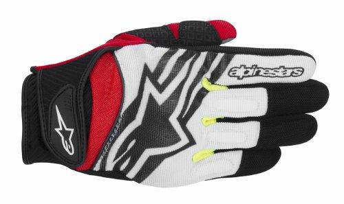 Alpinestars Spartan Men's Street Motorcycle Gloves - Black/White/Yellow/Red/Large ()