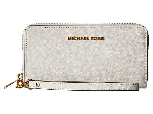 Michael Kors Jet Set Women's Travel Large Coin Wallet White