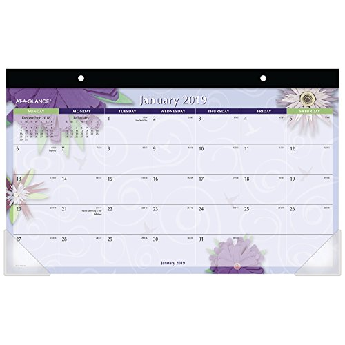 AT-A-GLANCE 2019 Desk Calendar, Desk Pad, 17-3/4