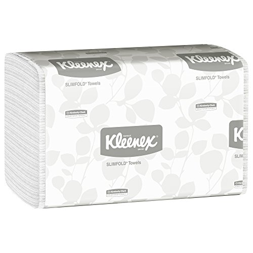 Hand Towels Kleenex Slimfold (04442) with Fast-Drying Absorbency Pockets, White, 90 Towels (Kimberly Clark Hand Towel)