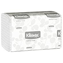 Hand Towels Kleenex Slimfold (04442) with Fast-Drying Absorbency Pockets, White, 90 Towels/Clip, 24 Clips/Case