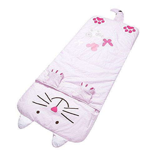 Lestore Kids Boy and Girl Big Cartoon Sleeping Bag Bunting Bags 140cm*60cm (D-pink cat) by Lestore (Image #7)