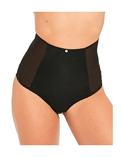 Scantilly by Curvy Kate Womens Entwine High Waist Thong Size Small in Black