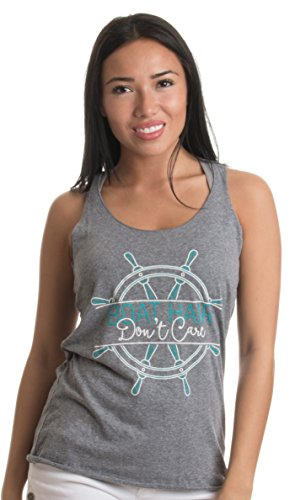 Boat Hair, Don't Care | Nautical Humor Cute Ladies' Triblend Racerback Tank