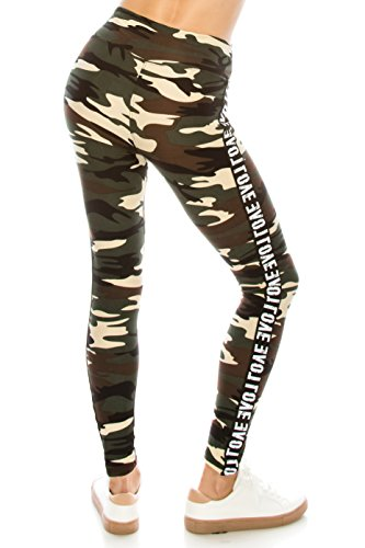ALWAYS Legging Women Track Pants - Premium Soft Stretch Buttery Camo Print Love Elastic Band 57 One Size by ALWAYS (Image #4)
