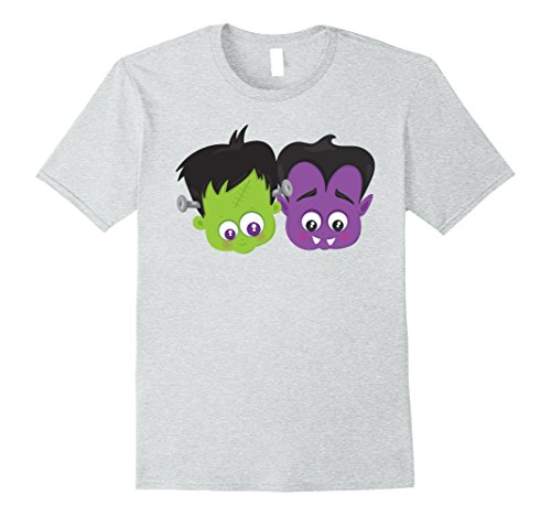 Mens Cute Hipster Monster | Easy Last Minute Halloween Costume Small Heather Grey