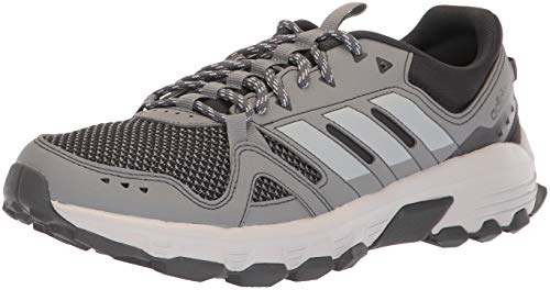 adidas Men's Rockadia Trail Running Shoe, Grey/Carbon, 8.5 M US