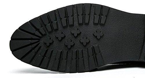 pour Coupe Bas Chaussures Habillées Britanniques NBWE Chaussures Mode pour brown Sculpté Banquet Fête Hommes Chaussures Occasionnels la fAqY0q7
