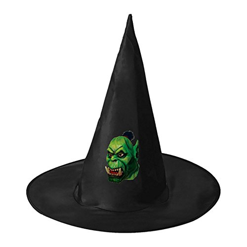 Cheap Homemade Halloween Couples Costumes (Green Monster Halloween Witch Black Hat Party Cap Accessory for Adults)