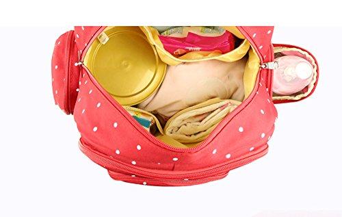 Bolso de la momia, bolso de hombro de gran capacidad multi-functional, bolso de la madre, bolso del bebé de la madre, salen el paquete, morral de la madre de la manera, bolso del bebé ( Color : Azul ) Rojo oscuro