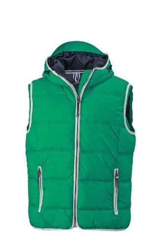 James & Nicholson - Weste Men's Maritime Vest, Giacca Uomo Irish-Green/White JN1076 igw