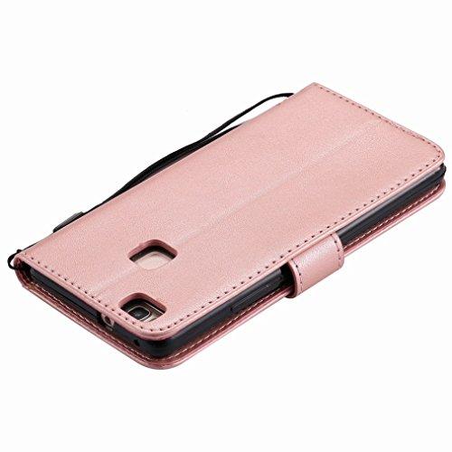 Yiizy Huawei P9 Lite / G9 Lite / Honor 8 Smart Custodia Cover, Albero e Gatti Goffratura Design Sottile Flip Portafoglio PU Pelle Cuoio Copertura Shell Case Slot Schede Cavalletto Stile Libro Bumper P