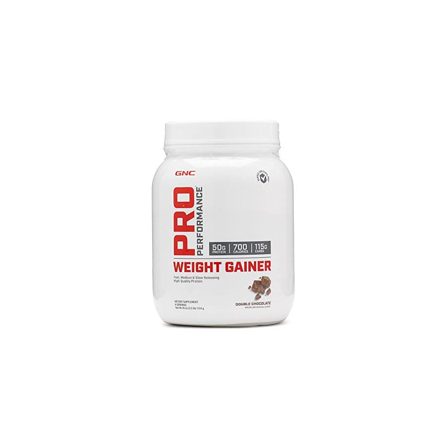 GNC Pro Performance Weight Gainer Double Chocolate,40 oz
